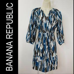 Banana Republic Woman Elastic Waist Dress Size 0P